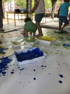peinture pied - main 2 - Mosaïque - 10 août