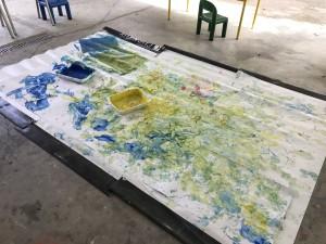 peinture pied - main 3 - Mosaïque - 10 août