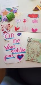 Loubayssens - les enfants de Cugnaux écrivent aux résidents